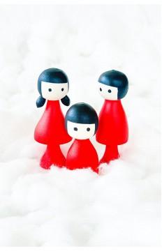 Anne & Baba & Çocuk - Kırmızı