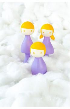 Anne & Baba & Çocuk - Lila